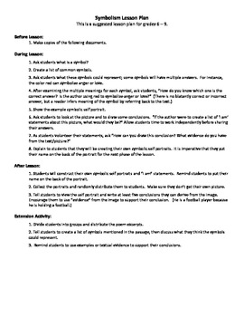 Symbolic Self Portrait - A Detailed Lesson Plan with Worksheets