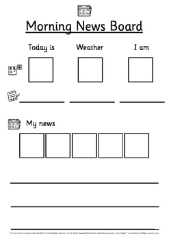 Symbolic morning communication/news board
