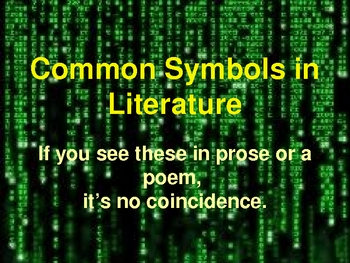 Symbolism - Common Symbols Found in Literature and Poetry