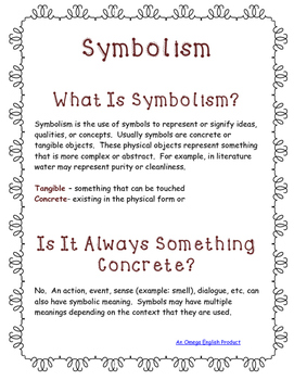 Symbolism Handout For High School Students