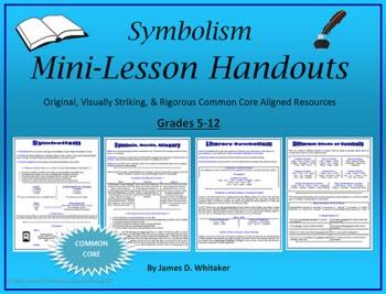 symbolism literary symbols mini lesson by james whitaker teachers pay teachers. Black Bedroom Furniture Sets. Home Design Ideas