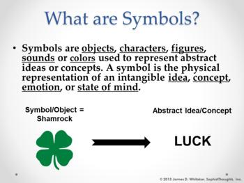 Symbolism Literary Symbols PowerPoint Common Core