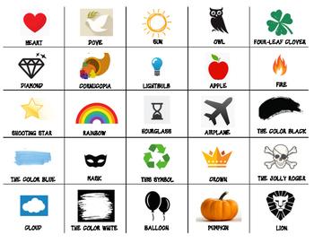 Symbolism Match Card Game