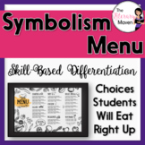 Symbolism Menu of Differentiated Activities Based on Bloom