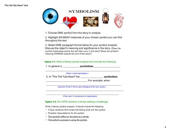 """Presentation: Symbolism, Theme, Irony & Mood in """"The Tell Tale Heart"""" (Notebook)"""