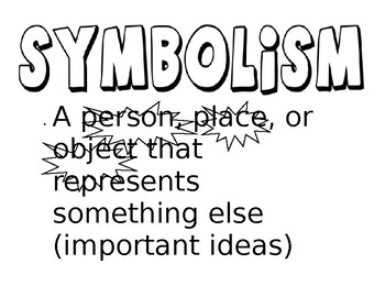 Symbolism Word Wall Sign