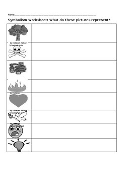 Symbolism Worksheet