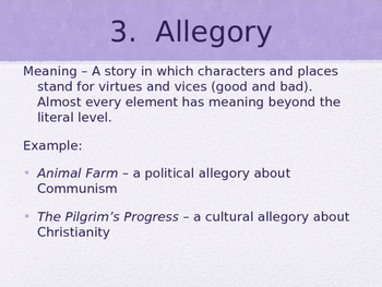 Symbolism and Allegory POWERPOINT