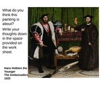 Symbolism and art history Hans Holbein The Younger's The A