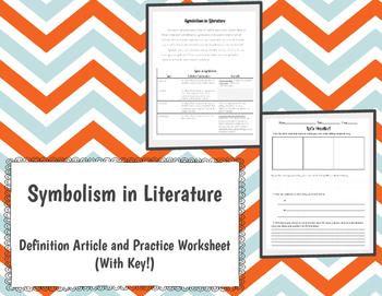 Symbolism in Literature Activity