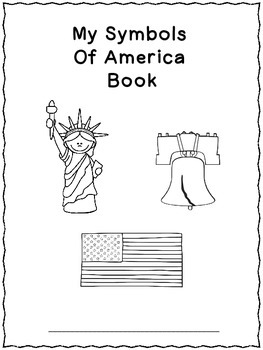 Symbols Of America Book -black and white