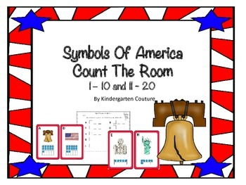 Symbols Of America Count The Room Ten Frames 1-10 and 11-20
