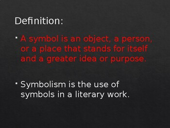 Symbols, Symbolism PowerPoint for Secondary