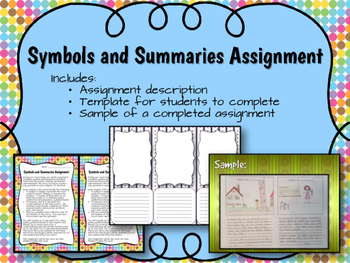 Symbols and Summaries: An Assignment for Any Novel Study