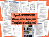 SYMBOLIC Quote List, Analysis Activities & Essay for the Novel SPEAK