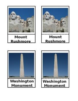 Symbols of America 3-Part Cards