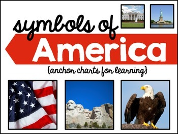 President's Day: Symbols of America Anchor Charts, Interactive Notebook Activity