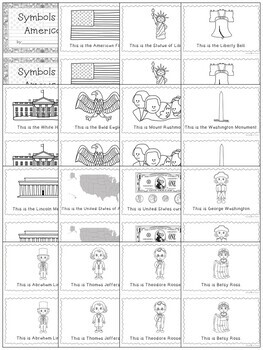 Symbols of America ~ Book and Write the Room Activity