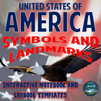 Symbols of America Interactive Notebook Activities with Test Prep Passage