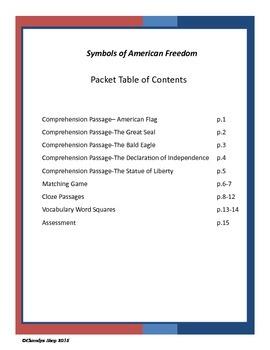 Symbols of American Freedom- Social Studies