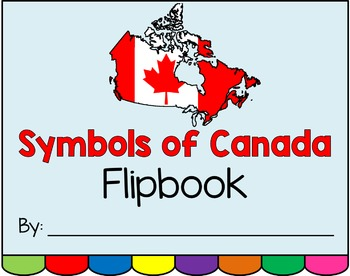 Symbols of Canada Flipbook Project for K-2
