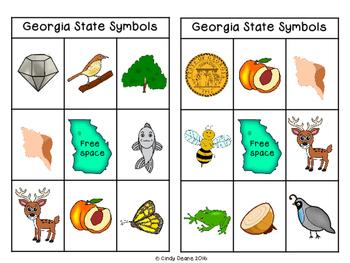 Symbols of Georgia: Bingo