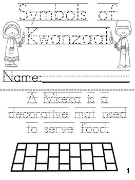 """Symbols of Kwanzaa"" Cut, Trace and Color Printable Book!"