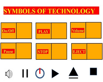 Symbols of Technology Promethean Board Flipchart