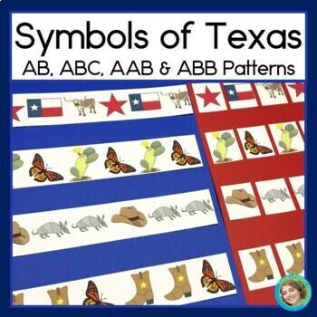 Texas Symbols Math Center with AB, ABC, AAB & ABB patterns