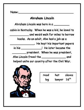 Symbols of the USA - Abraham Lincoln