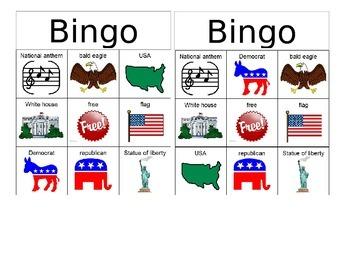 Symbols of the USA Bingo