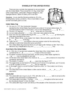 Symbols of the United States, AMERICAN GOVERNMENT LESSON 87 of 105 Activity+Quiz