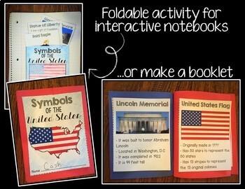 United States Symbols Unit - No Prep