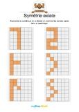 Symétrie axiale 2 -Reproduire le symétrique d'un dessin