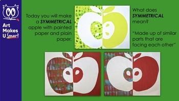 Symmetrical Apple Collage