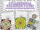 Symmetrical Coloring Pages : 25 Individual or Mosaic Coloring Pages