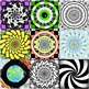 Symmetrical Coloring Pages : 25 Individual or Mosaic Color
