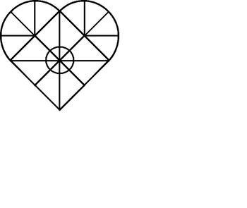 Symmetrical Heart Colouring