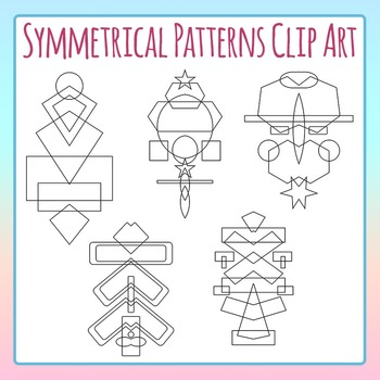 Symmetrical Patterns / Shapes Clip Art for Commercial Use