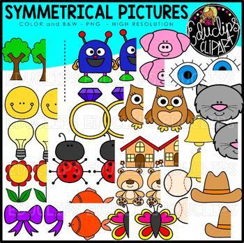 Symmetrical Pictures Clipart Bundle {Educlips Clipart}