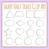 Symmetrical Shapes Half Trace Shapes Clip Art Set Commercial Use