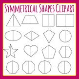 Symmetrical Shapes - Symmetry Fold Lines Shapes Clip Art Set Commercial Use