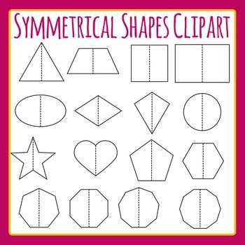 Symmetrical Shapes - Symmetry Fold Lines Shapes Clip Art S
