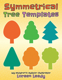 Symmetrical Tree Templates [Line Symmetry, Halves & Wholes]