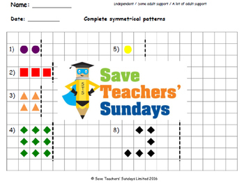 Symmetrical patterns lesson plans, worksheets and more