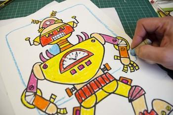 Symmetrical robot: 3 worksheets