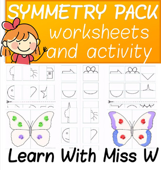 Symmetry Activity and Worksheet Bundle