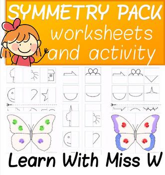 Symmetry Activity and Worksheet Bundle