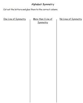 Symmetry- Alphabet