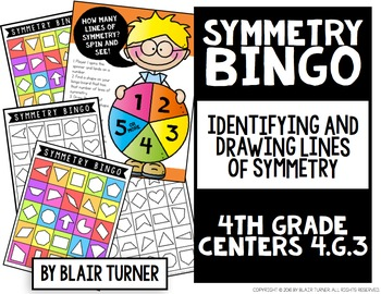 Symmetry Bingo: 4th Grade Math Centers 4.G.3